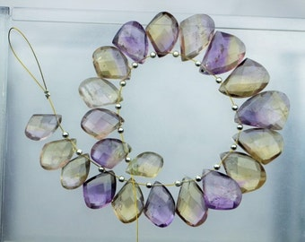 AAA+ quality gemstone 21 piece of speacial shape Ametrine, 4 x 9 x 15 -- 6 x 14 x 20 mm