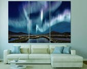 Large colorful northern lights art wall decor canvas space print milkyway, milkyway star fine art photography home decor galaxy poster print