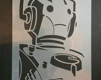 Doctor Who Cybermen Stencil