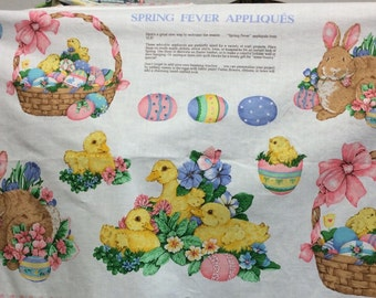 Daisy Kingdom Easter Fabric Appliqués/No Sew/ Or Sew On