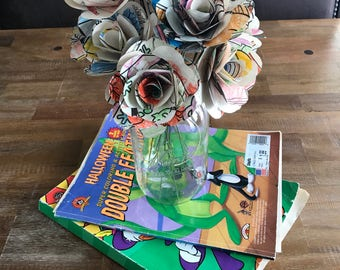 Personalized Paper Roses - One Dozen
