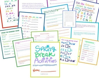 Super Pack #6 Spring Break Activities! For Jehovah's Witnesses