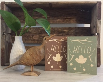 Set of 2 Hello Cards