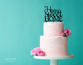 HOME SWEET HOME cake topper - Black or White