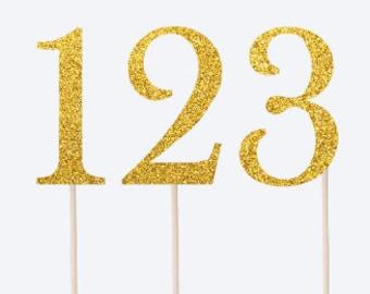 12 x Number Cupcake Topper - 1 Cupcake Topper - 2 Cupcake Topper - 3 Cupcake Topper - Birthday Party Decor