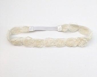Flower Headband - Boho Floral Crown - Cream Flower Crown - Flower Crown - Headbands for Girls - Toddler Headband - Adult Headbands