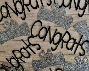 2017 Graduation Confetti, Graduation Party Decorations, Graduation Diploma and Congrats Confetti