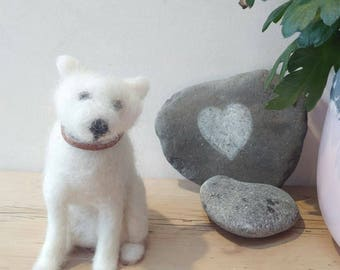 Felted dog, needle felted dog, handmade, gift for pet lovers, gift for dog lovers, gifts for her, gifts for him, dog sculpture, puppy