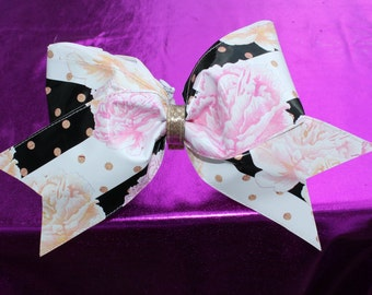 floral cheer bow