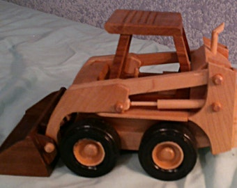 Hand crafted wood Cat Skid Steer
