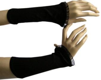 Leg warmers women arm warmers wrist warmers ladies black