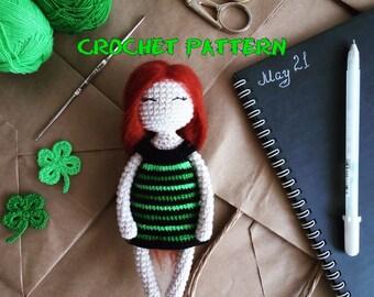 Crochet PATTERN: Clover Doll Amigurumi Stuffed toy