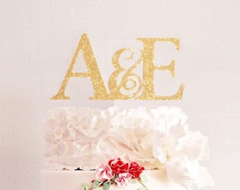 Wedding Cake Topper, Initials Cake Topper, Personalized Wedding Cake Topper, Engagement Cake Topper, Monogarm Cake Topper, ANY MONOGRAM