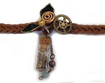 steampunk bracelet  back to green / Armband