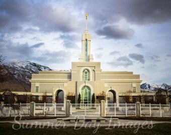 Mt. Timpanogos Temple Photograph - 11x14
