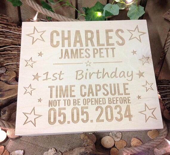 1st Birthday Gift Time Capsule Box Baby Memory Box Keepsake