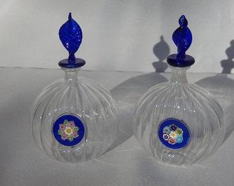 Old glass perfume bottles