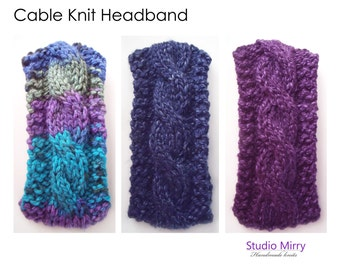 Soft & Stylish Cable Knit Head band/Ear Warmer