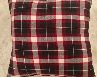 Flannel Plaid Pillow Cover