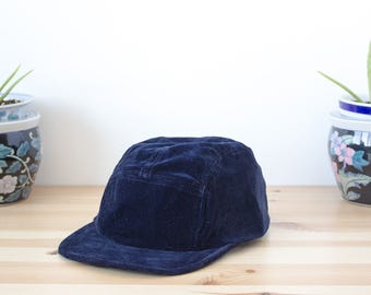 BLUE VELVET - Handmade and recycled 5 panel hats/cap from Montreal