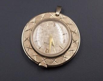 1960's Bulova Pendant Watch, Vintage Pendant Watch, Vintage Bulova Watch, Vintage Swiss Watch, Mod Era Watch, Vintage Mod Jewelry