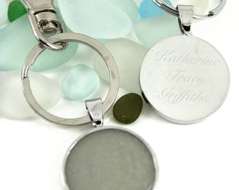 Engraved DIY Breast Milk Keyring Kit, Do it Yourself DNA Breastmilk keepsake