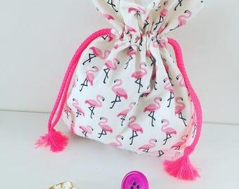 Makeup bag or Flemish clutter bag pink