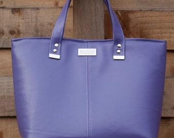 SALE - Purple handbag - purple tote - vegan leather tote -  ladies handbag - purple purse - vegan gift - gift for her