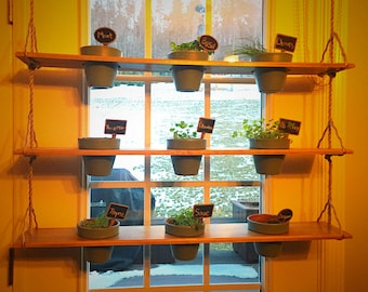 Hanging Indoor Herb Shelf