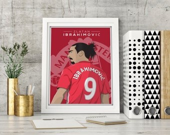 Zlatan Ibrahimovic - Manchester United Print A3 Poster (A3, A4 & 8x10 available)