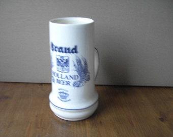 Beer mug porcelain Holland Bear Brand beer export