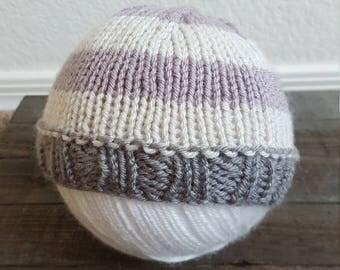 Newborn Knit Baby Beanie, Baby Shower Gift, Newborn Photography Prop