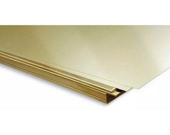 Cheap 0.5mm brass sheet plate guilotine cut various sizes