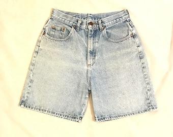 """LEE Vintage High Waist Women's Denim Mom Shorts Size 11 Waist 26"""""""