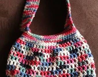 Crochet multi colored purse
