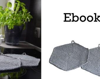 Crochet Potholder, eBook Potholder crochet pot holder