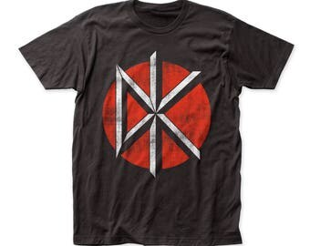 Dead Kennedys Distressed Logo Soft 30/1 Men's Cotton Tee (DK21) Coal