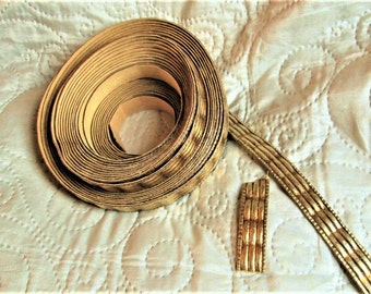 Antique Gold Trim, paper trims, framing trims, antique gold paper, art frames, gold frames,