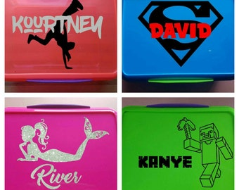 Personalised Kids Lunchbox! Unique Gift, Fun, Original, Great for School. Sistema. NZ. Children, Child, 2L Plastic
