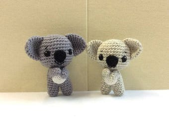 Crochet Australian Animal Toy, Amigurumi Koala, Plush Koala, Australian Handmade Soft Toy for Baby/Toddler, Australian Gift/Souvenirs