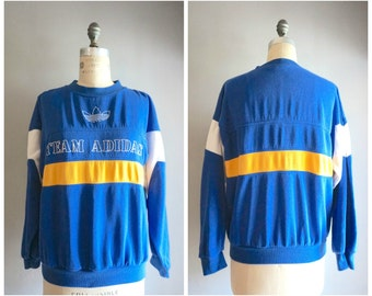 Vintage 80's Striped Team Adidas Sweatshirt