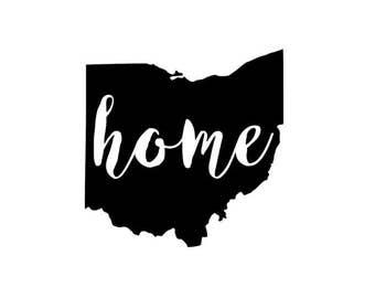 "Ohio ""Home"" Vinyl Decal/Bumper Sticker"