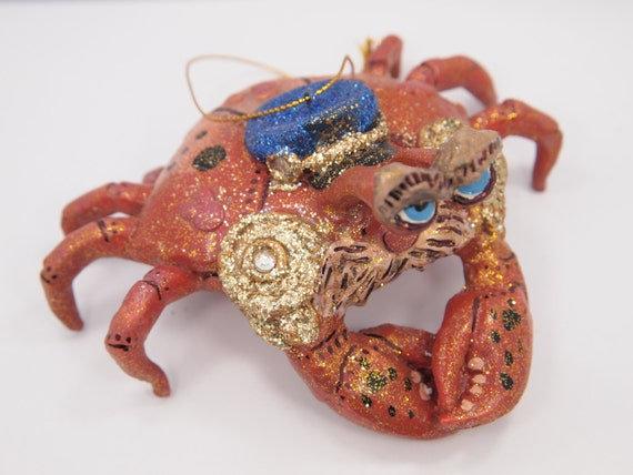 Clearance sale vintage captain crab ornament painted for Christmas ornament sale clearance