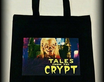 Tales From The Crypt, Tales From The Crypt LARGE tote bag, Horror Clothing, Horror Bag, 90s Horror, Crypt Keeper tote bag, Horror, Gothic