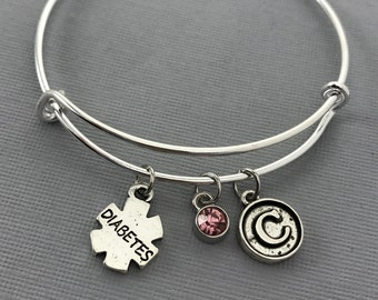 Diabetes - Diabetic Bracelet - Diabetic - Medical Bracelet - Medical Alert - Diabetes Bracelet - Personalized Bracelet - Gift for Her