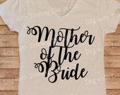 Mother of the Bride Iron On Decal DIY Wedding Bachelor Bachelorette Party Shirt Tee Do It Yourself Hoodie Raglan Sweatshirt Tank Top Robe
