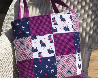 CUSTOM HANDMADE MTO Large Quilted Tote