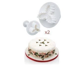 2 moulds cakes Multi form 'Holly roadmap' pastry Fondant Cake sandy