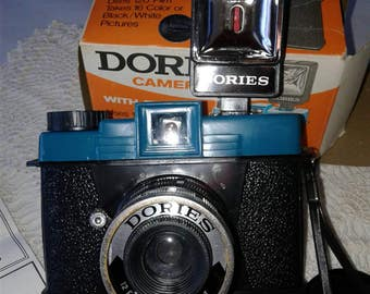 Vintage Dories Camera with Flash  No. W204A Great Wall Plastic Factory of Kowloon, Hong Kong Nanco, Nancy Sales Corp. Inc. Black and White