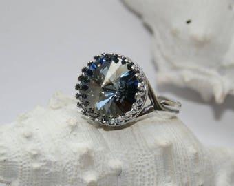 Ring, finger ring, bracelets, earrings, handmade, Ø 18 mm, old silver